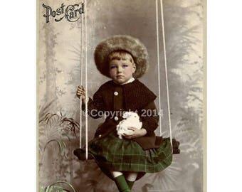 Boy Bunny Swinging