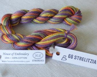 DMC stranded embroidery collar B STRELITZIA 68 of House