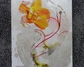 """Carte artistique """"fleur d'or"""""""