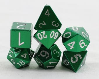 Mini Zucati EleMetal Aluminum Dice - Forest Green Blue