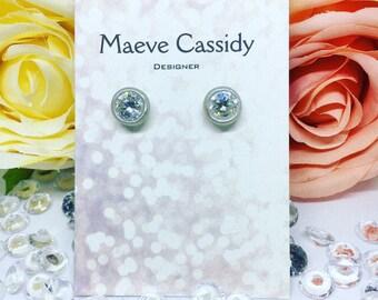 Sterling silver metallic earring design