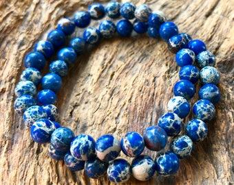 Stretch Bracelet Blue Lapis Small