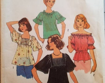 Vintage peasant shirt pattern