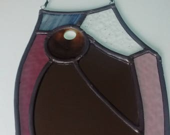 "Stained Glass Mirror - ""Odin's Owl"""