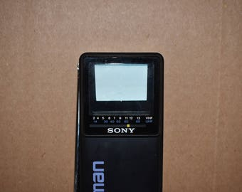 Vintage 1985 Sony Watchman portable television FD-2A