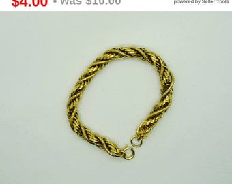 Vintage Gold Tone Twist Bracelet Fashion Bracelet, Rope Bracelet Fashion Jewelry