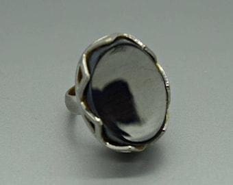 Hematite Adjustable Fashion Ring