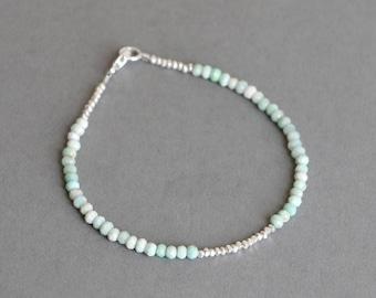 Amazonite Bracelet Bead Bracelet Gemstone Bracelet Stacking Bracelet Gift for Her