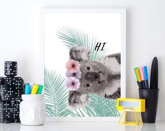 Koala illustration poster