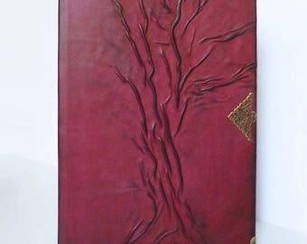 Leather Journal A4, Guest Book, Family Memories, Writing Journal, Diary, Tree of life, Graduation, Anniversary, Birthday Gift, Leather Art