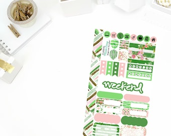 Shamrock Personal Weekly Kit! Perfect for your Erin Condren Life Planner, calendar, Paper Plum, Filofax!