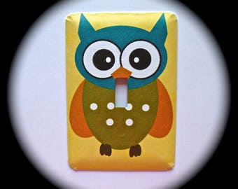 Decorative Single Switch Plate ~ Owl, Light Switchplate, Switch Plate Cover, Home Decor