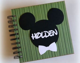 2018 80 pgs Green PERSONALIZED  Disney Autograph Book Scrapbook Use it as a  Vacation Photo Book 1809 boys fave
