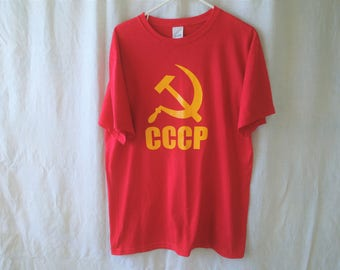 80s CCCP Soviet Union Hammer and Sickle T-Shirt