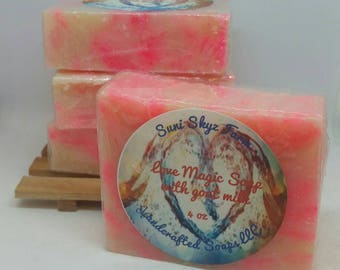 Love Magic Soap - Goat Milk Soap - Strawberry Soap - White Musk Soap - Damask Rose Soap - White Lady Peach Soap - Apple Blossom Soap