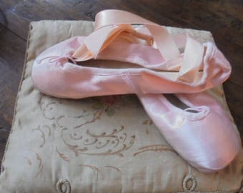 charming Italian professional ballet shoes/ballet shoes/point shoes with hard nose/pink shoes of porselli design shoes
