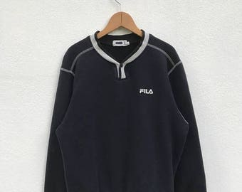 20% OFF Vintage Fila Embroidery Logo Sweatshirt/Fila Sweater/Casual Clothing/Fila Sport Sweater/Fila Italia