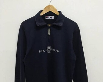 20% OFF Vintage Fila Half Zipper Sweater,Fila Big Logo,Fila Italia,Fila Sweater,Fila Bj,Fila Tennis Shirt,Fila Italia