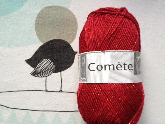 WOOL Comet rubies - white horse