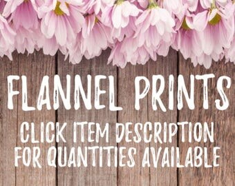 Flannel fabric prints - Do not purchase
