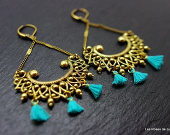 Bronze art deco earrings