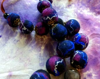 "Beads from felt ""Cosmos"""