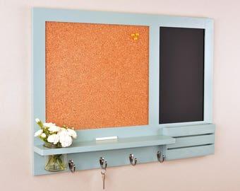 Duck Egg Bulletin Board - Chalkboard - Cork Board - Mail Organiser