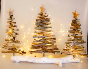 3 wood christmas treedriftwood christmas tree driftwood tree driftwood christmas decoration - Wood Christmas Tree