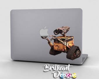 Wall-E,Wall E decal ,Wall-E sticker for Apple Computer MacBook Pro, MacBook Air, MacBook, Gift,Geekery, For her, For him