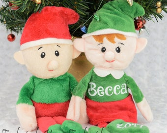Elf Stuffy - Christmas Gift - Personalized Gift - Christmas Elf