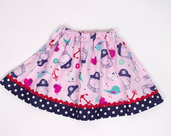 Girl skirt  nautical skirt ,  Girl Skirt,  Girl birthday skit, summer skirt  skirt, baby Skirt , Toddle  skirt girl clothes