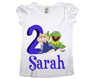 Girl Muppets birthday shirt Girl  birthday shirt, girl age name shirt  baby shirts, toddler shirt, Age Name girl my little pony