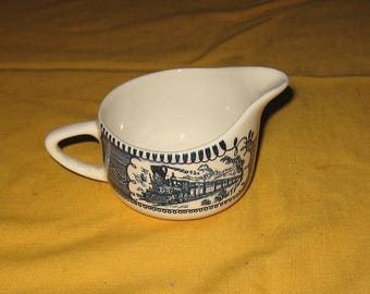 Currier and Ives creamer