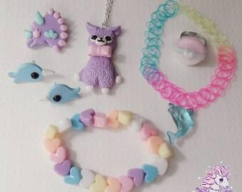 Kawaii Creatures I jewelry set fairy kei lolita kawaii sale
