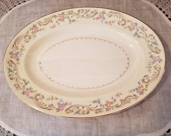 "Vintage,  Paden City, Duchess, 11 1/2"" Oval Platter"