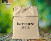 Inefficient Skill Canvas Cinch Bag - Cotton Canvas Drawstring Bag