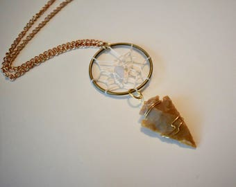 Arrowhead and Dreamcatcher Necklace