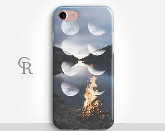 Moon Phases Phone Case For iPhone 8 iPhone 8 Plus - iPhone X - iPhone 7 Plus - iPhone 6 - iPhone 6S - iPhone SE - Samsung S8 - iPhone 5