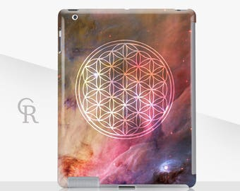 Flower of Life iPad Case For - iPad 2, iPad 3, iPad 4 and iPad Mini, iPad Air, iPad Air 2, iPad Mini 4 Snap on Case