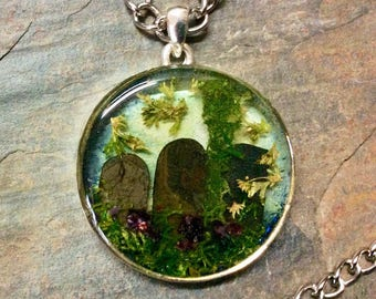Cemetery Love, Terrarium Necklace