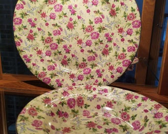6 Pieces of Charlotte Chintz by Baum Brothers