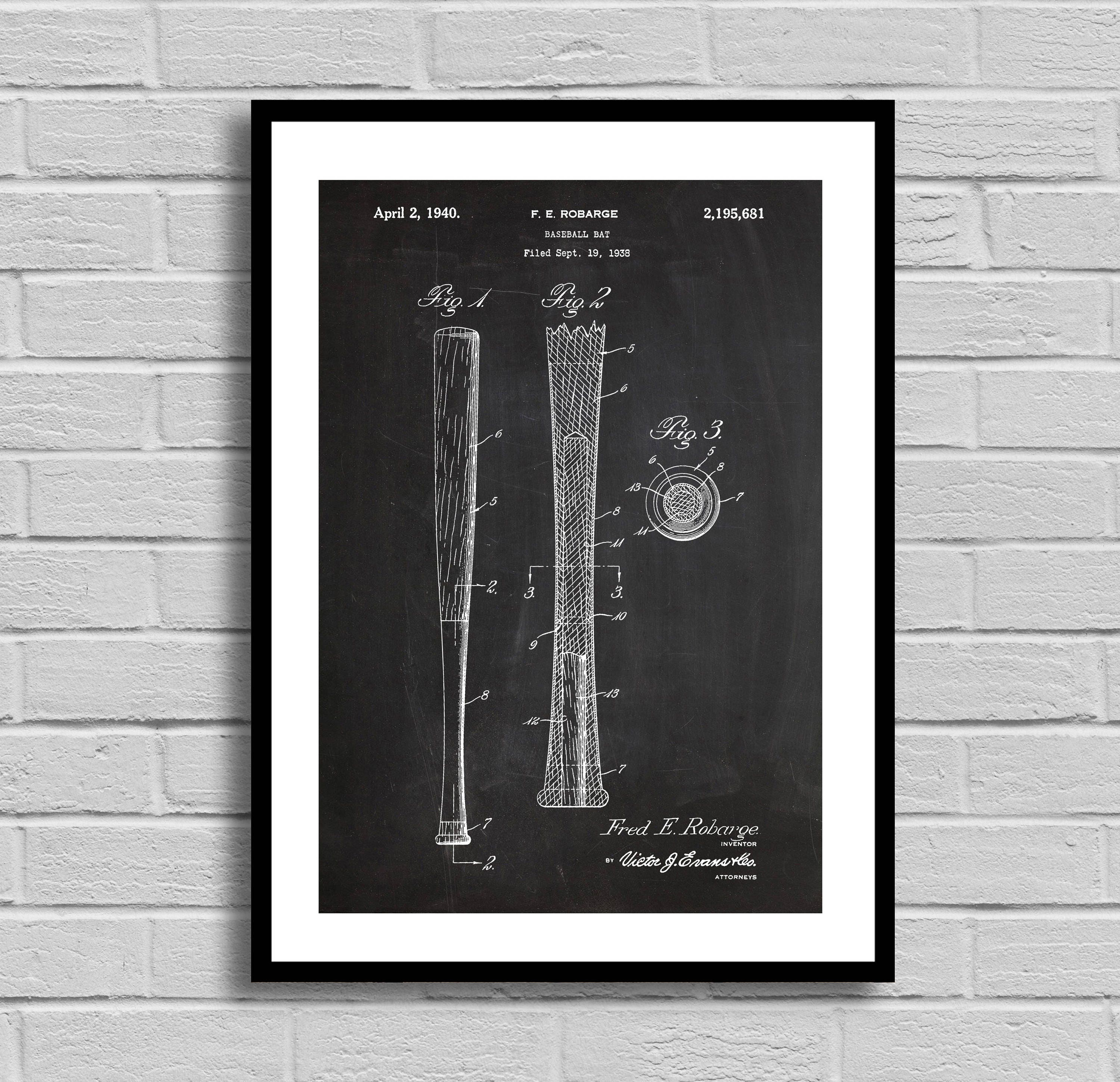 Baseball bat patent baseball bat patent poster baseball bat baseball bat patent baseball bat patent poster baseball bat blueprint baseball bat printsports decorbaseball decorathlete giftvintage malvernweather Image collections