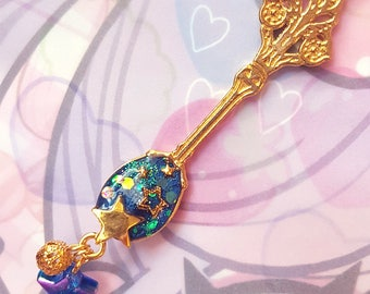 Starry Night Filled Spoon Necklace - Sweet Lolita Gothic Lolita EGL fashion