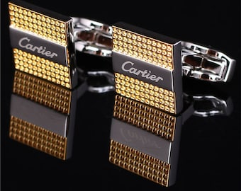 CARTIER Cufflinks in Classic White Gold Plated
