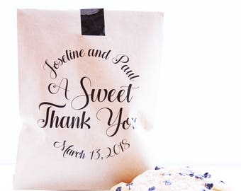 Love Is Sweet, Popcorn Favor Bag, Wax Lined Favor Bag, Custom Favor Bag, Popcorn Bag, Dessert Table, Donut Bag, Wedding Favor, Donut Box