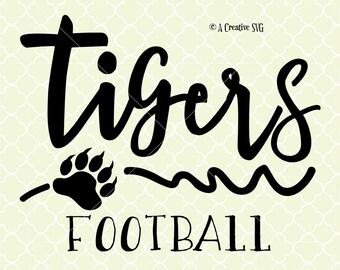 Tigers Football SVG DXF Files for Cricut Design, Silhouette studio.