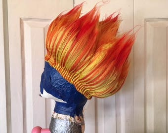 Fire Wig, Boys costume, Halloween costume, Mens cosplay, Firefighter party, Mens wig, Kids cosplay, Boys wig, Kids Halloween, Ombre wig
