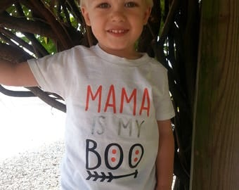Mama is My Boo | Mama is My Boo Shirt | Halloween Shirt for Boys | Toddler Boy Halloween Shirt | Mama is my Boo Onesie | Boys Halloween