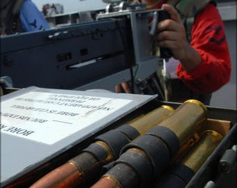 Poster, Many Sizes Available; .50 Caliber Bmg Browning Machine Gun Ammunition