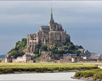 Poster, Many Sizes Available; Mont Saint-Michel, Couesnon River, Normandy, France